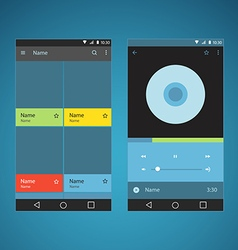 Modern smartphone player interface template vector image vector image