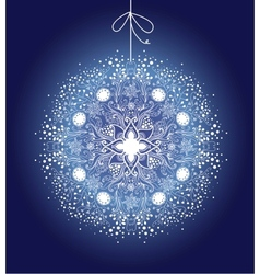 Ornamental Christmas ball vector image