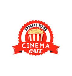 pop corn box icon for cinema cafe menu vector image vector image