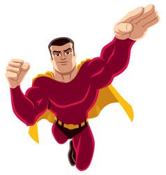 superhero flying 4 vector image