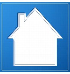 Abstract house background blueprint concept vector
