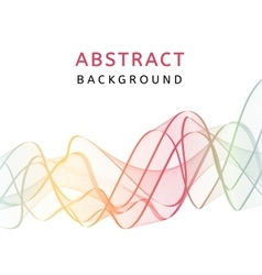 Abstract smooth transparent colorful background vector