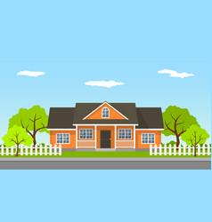 cottage house landscape vector image