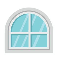 flat architecture window icon isolated on white vector image vector image