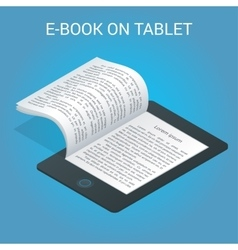Isometric e-book concept university computer vector
