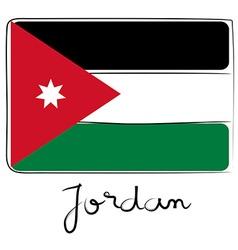 Jordan flag doodle vector image vector image