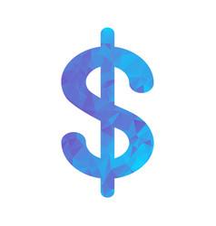polygon blue icon dollar vector image vector image