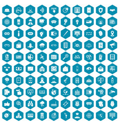100 security icons sapphirine violet vector