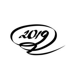 2019 calligraphy vector