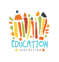 Abstract education day label concept with school vector