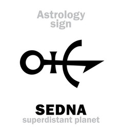 Astrology planet sedna vector