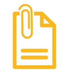 Attach Document Icon vector