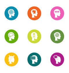 Awareness icons set flat style vector