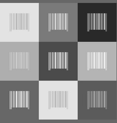 bar code sign grayscale version of popart vector image