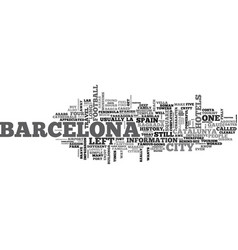 Barcelona spain so much fun in one day text word vector