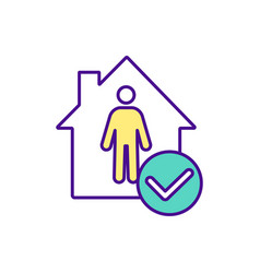 Be safe at home rgb color icon vector