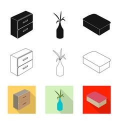 Bedroom and room logo set vector