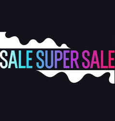 Bright colorful sale poster with dynamic waves vector
