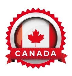 Canada flag badge vector