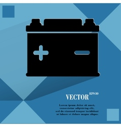 Car battery Flat modern web button on a flat vector image