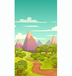 cartoon vertical nature landscape vector image