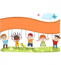 children's card vector image vector image