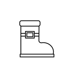 christmas boot outline icon element of new year vector image