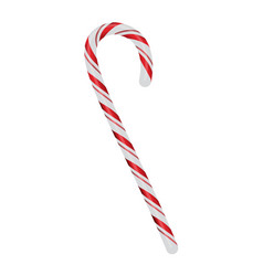 Christmas candycane isolated on white vector
