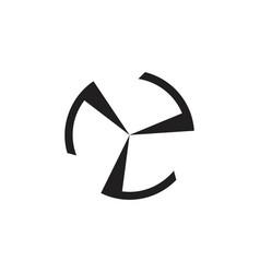 circle simple geometric turbine arrow logo vector image
