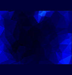 dark blue polygonal abstract background vector image