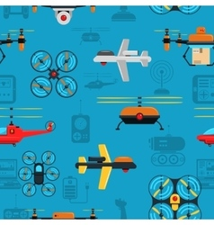 Drones Seamless Background vector image vector image