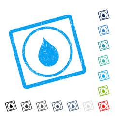 Drop icon rubber watermark vector
