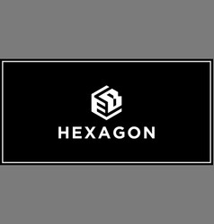 eb hexagon logo vector image