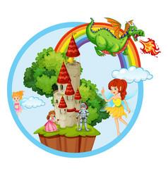 fairy tale story scene vector image