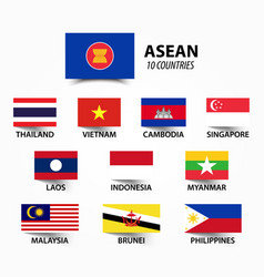 Flag of asean association of southeast asian vector