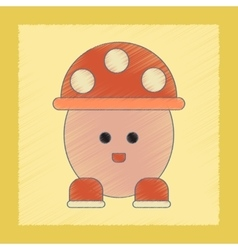 flat shading style icon Kids mushroom vector image