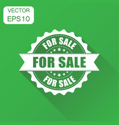 For sale rubber stamp icon business concept for vector