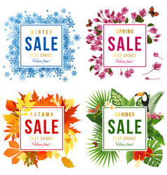 four seasons sale vector image