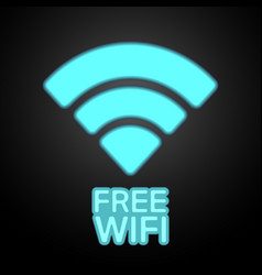 Free wifi icon vector