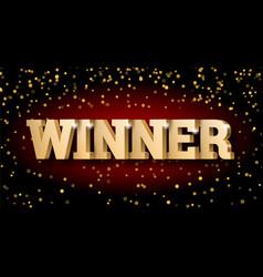 Gold 3d word winner vector