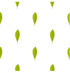 Green leaf pattern seamless vector