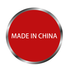 Icon made in china vector