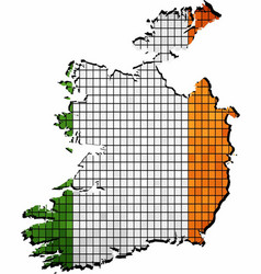 Ireland map grunge mosaic vector
