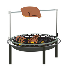 isolated barbecue grill vector image