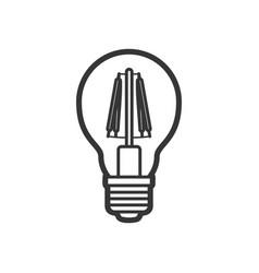 led light lamp bulb outline icon vector image