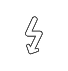 lightning line icon vector image