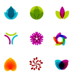 logo design elements set 06 vector image