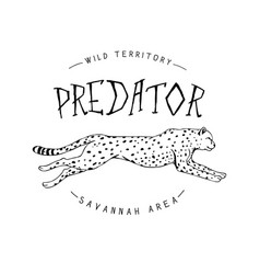 Logo with cheetah vector