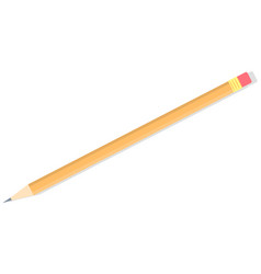 long pencil with eraser sketching and painting vector image