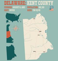 map kent county in delaware vector image